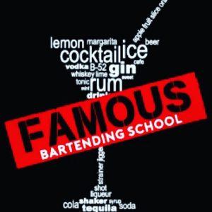 Famous Bartending School logo