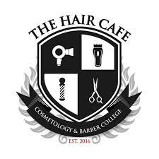 THE HAIR CAFE COSMETOLOGY AND BARBER COLLEGE logo