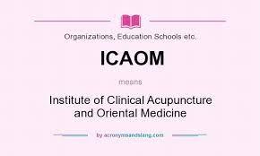 Institute of Clinical Acupuncture & Oriental Medicine logo